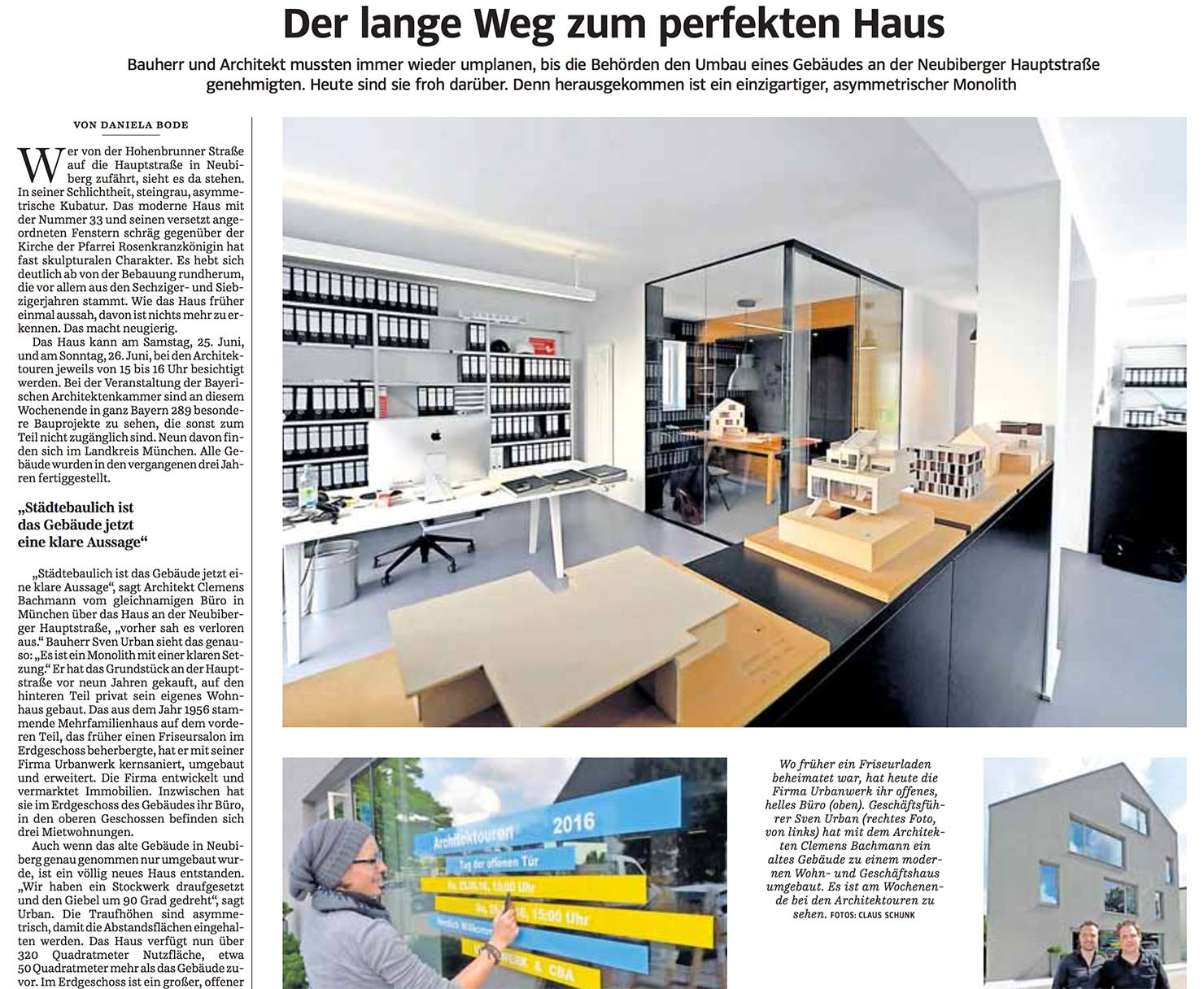 s ddeutsche zeitung h33 cba clemens bachmann architekten m nchen. Black Bedroom Furniture Sets. Home Design Ideas