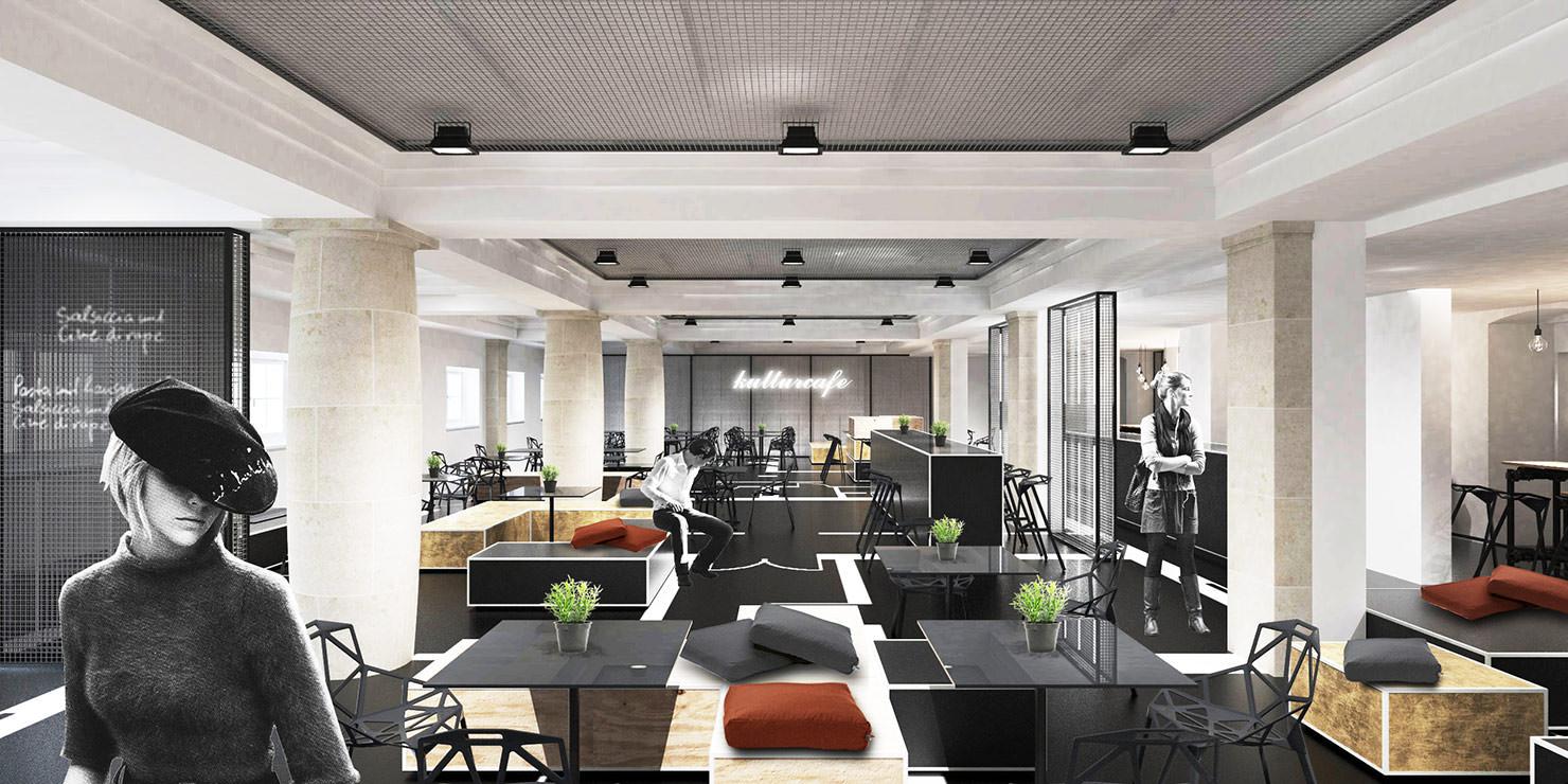 kulturcafe mainz cba clemens bachmann architekten m nchen. Black Bedroom Furniture Sets. Home Design Ideas