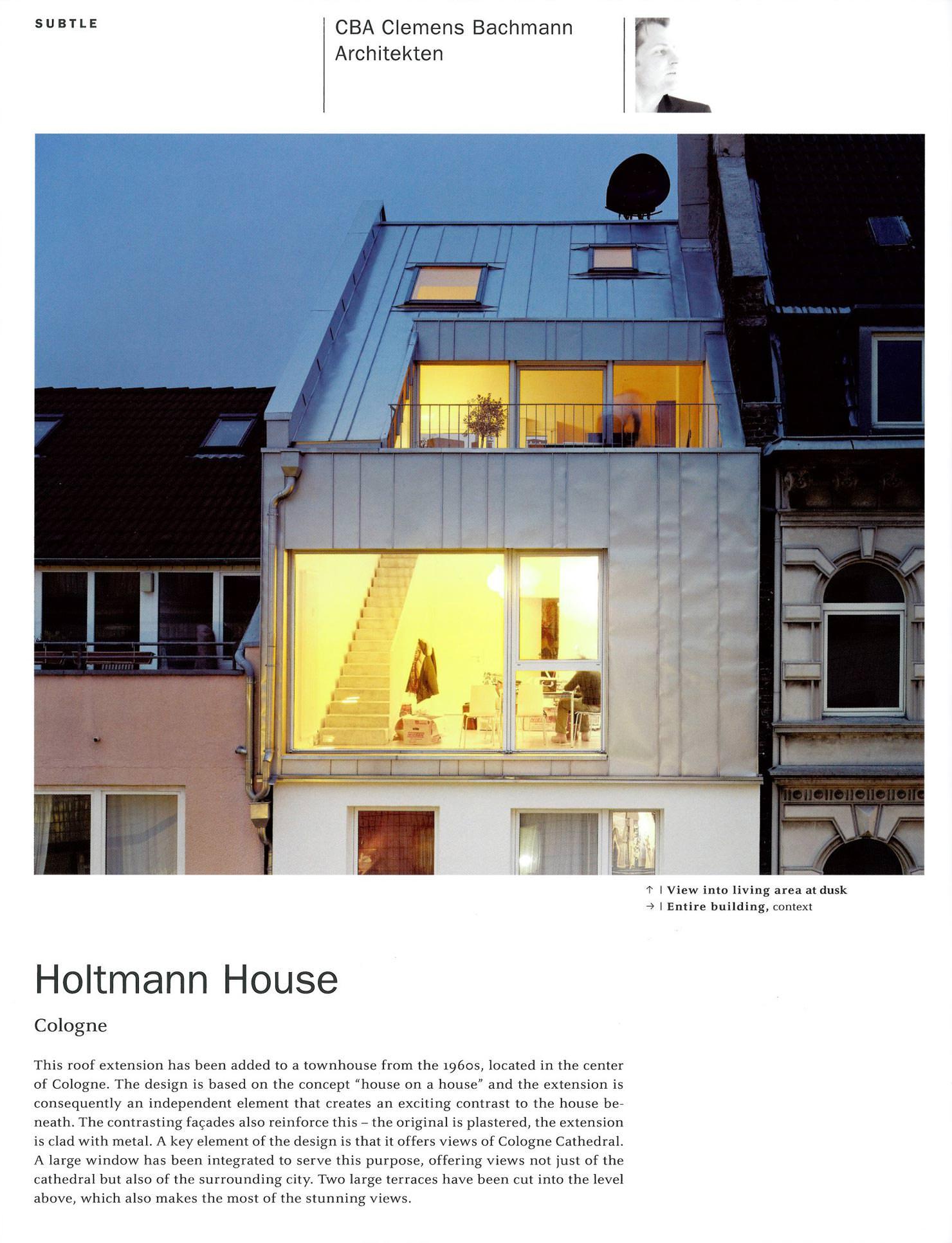 Townhouse design haus holtmann cba clemens bachmann for Design haus