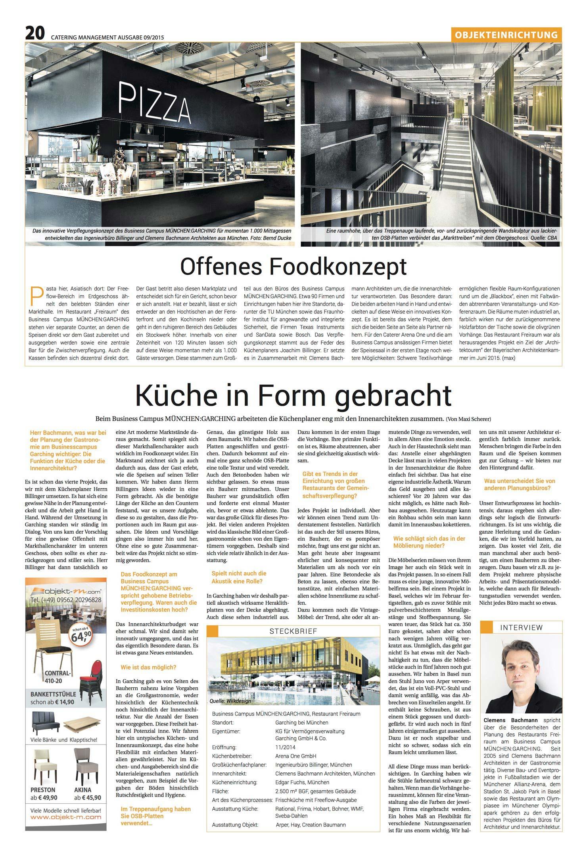 Catering Management Restaurant Freiraum Cba Clemens Bachmann